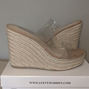 Steve Madden Wedge Heel with Clear Straps